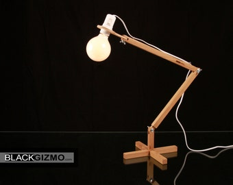 Wood Table Lamp DL020 BlackGizmo