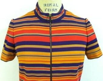 Vintage 1960's Striped Sheath Dress