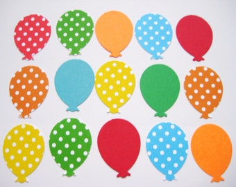100  Colorful Solids & Mini Dot Balloon punch die cut scrapbooking embellishments E1520