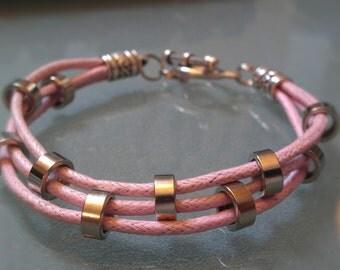 Bike Chain Spacer Triple Corded Bracelet - LBTRCD3