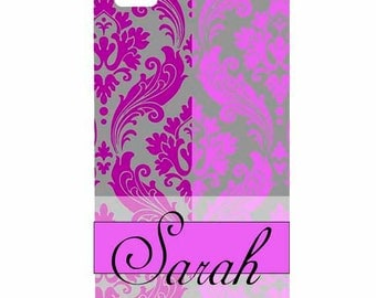 Samsung Galaxy s3, s4, s5 Note, Note 2, Note 3 Personalized Damask Monogram