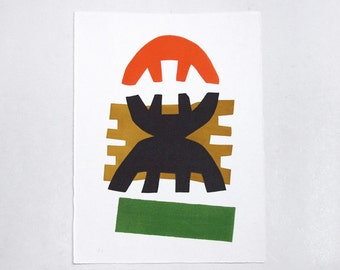 """Vintage Lithograph """"Composition"""" - Giuseppe Capogrossi"""