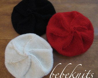 Hand Knit French Beret Toddler Hat