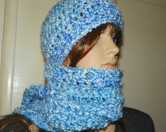 Sky Blue Scarf and Hat Set