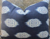 Designer Pillow Cover -  10 x 20, 12 x 16, 12 x 18 - Josi Indigo