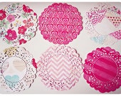 Parisian Lace Doily Fourteen Crate Paper for Scrap booking or card making / pack