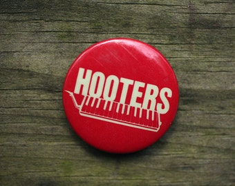 Hooters Band Vintage Pin 1980s New Wave Music Concert Button