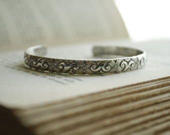 Sterling Silver Patterned Bracelet