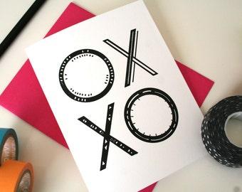 XOXO / Letterpress Printed Card