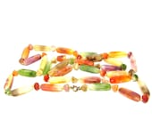 Vintage Necklace Bakelite Multi Color Pastel  Beads 1950s
