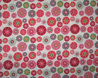 Rainy Days and Mondays fabric Riley Blake Designs Pink Umbrella tops on white 1 yard