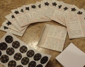 18 Vintage Dictionary Book Page Mini Envelopes includes Flower Sticker Seals