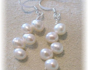 Top drilled Fresh Water Pearl drop Earrings