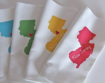 I Love New Jersey, Set of Four Napkins- Set of FOUR