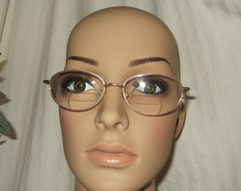 Vintage eyeglasses eyewear vintage eyeglass frames wire rim frames made in Japan decorative temple