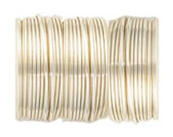 999 Pure Silver with a copper core, electraform bonded wire for wire wrappers or beaders.