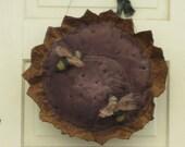 Primitive Sunflower Door Greeter with Bumble Bees - Door Hanger - Fabric - Grungy - Wall Hanging