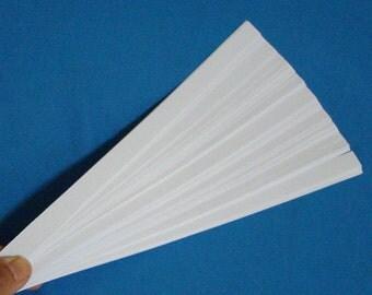 White : Lucky Stars Paper Strips (100)
