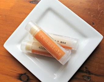 VACATION SALE  Creamsicle Organic Vegan Lip Balm .15oz Tube