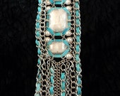 Ethnic Inspired Turquoise colored Long Necklace