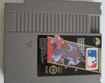 "Vintage Nintendo (NES) Game ""Major League Baseball"" WORKS from 1987"