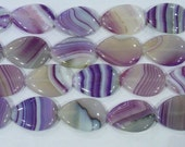 18x25mm Waterdrop Agate Beads Banded Purple 6369 15''L Natural Genuine Semiprecious Gemstone Bead Wholesale Beads