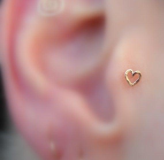 tragus earring nose ring stud cartilage earring 14k rose. Black Bedroom Furniture Sets. Home Design Ideas