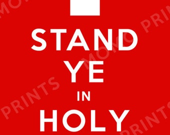 YM/YW  'Stand Ye In Holy Places' Poster
