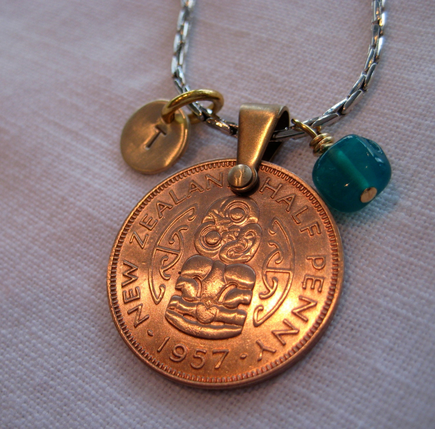 coin jewelry new zealand coin with sted charm and
