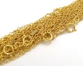 "3 x 18"" 14kt Gold Filled Cable Chain 3mm - Gold-Filled Chain - Gold Fill Link Chain"
