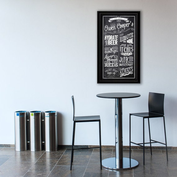 Gifts For Man Cave Bar : Personalized bar rules man cave custom chalkboard subway