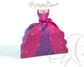 Royal Princess Favor Box, Princess Birthday Party, Purple Pink, Candy Box, Gift, Favor Box, Princess Party, sweets 16 -INSTANT DOWNLOAD
