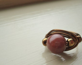 Soft Purple Wire-Wrapped Ring