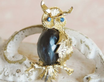 Vintage Jelly Belly Owl Brooch by Gerrys