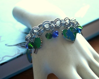 Love the Earth Charm Bracelet