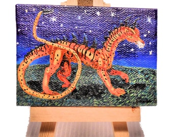 Tiger dragon , miniature painting