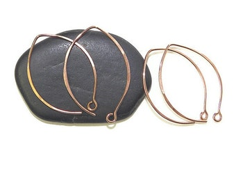 Elfin Marquis Handcrafted Earwires in Tumbled Copper, 2 Pair F102