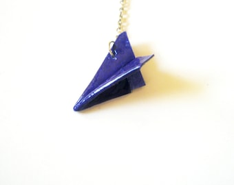 SALE One Direction necklace-Blue Paper Airplane, Harry Styles