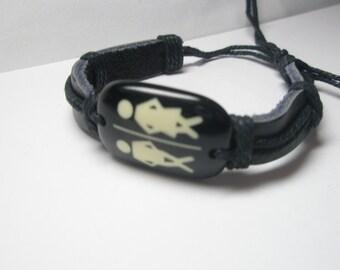 Leather Bracelet-  woman- man- love