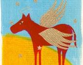Original Art Card Print - I have a Soul - Horse - Valentine - Cathy DeLeRee