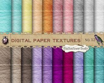Essentials Digital Scrapbook Paper Pack  No 12 - 12x12