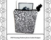 """PDF Sewing Pattern Kindle, Kindle Fire, Nook, Nook color, Sony, Kobo eReader  case cover with zipper, padding, fully lined """"Claire"""""""