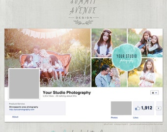 Water Color Facebook Timeline Cover design - by Summit Avenue - Instant download