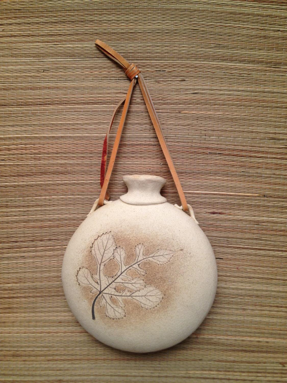Vintage 1978 Signed Floyd Art Pottery Wall Pocket Vase