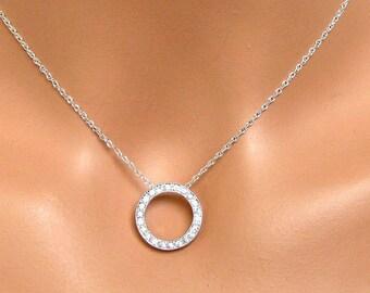 Bridal Necklace, Simple Rhinestone Bridal Jewelry, Bridesmaids Gifts, Wedding Jewelry, Bridesmaids Jewelry