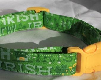 Irish Dog Collar Size Extra Small, Small, Medium or Large