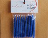 Set of 12 Blue Soy Birthday Candles