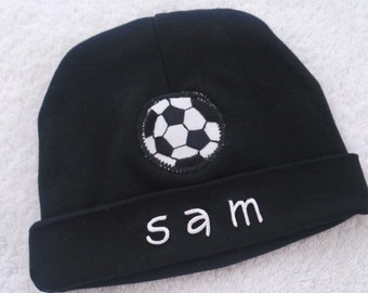 Soccer Beanie Hat Baby Boy with Personalization / 2 Sizes available