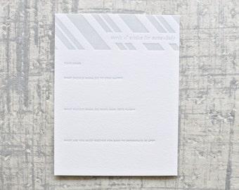 baby shower advice letterpress cards