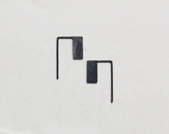 Rectangle pendants earrings // graphic earrings // thread earrings // modern design // GM014